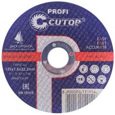 Круг отрезной CUTOP d=125х1,6х22,2 металл арт 39985т *10