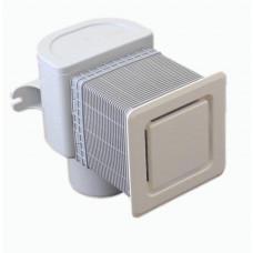 Клапан воздушный HL905 d=50х75 для скрытого монтажа с крышкой