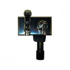 Сифон встроенный для стиральных машин с краном на монтаж. пластине HL406