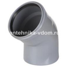 Колено канализационное d=110х45*