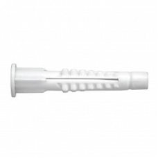 Крепление канализационное d=32 с распорным дюбелем (белое/серое)