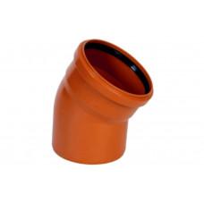 Колено наружное канализационное d=110х15*