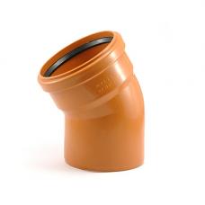 Колено наружное канализационное d=110х30*