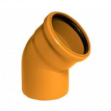 Колено наружное канализационное d=110х45*