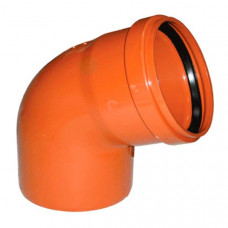 Колено наружное канализационное d=110х67*