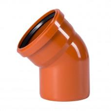Колено наружное канализационное d=160х15*
