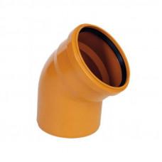 Колено наружное канализационное d=160х30*
