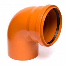 Колено наружное канализационное d=160х90*