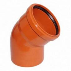 Колено наружное канализационное d=200х45*