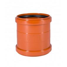 Муфта наружная канализационная d=200 2храструбная