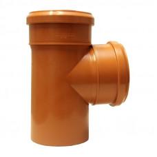 Тройник наружный канализационный d=110х110х90*