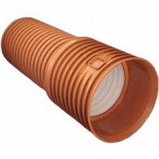 Труба наружная канализационная гофра с раструбом d=200х226/6,0 SN4 Хакан