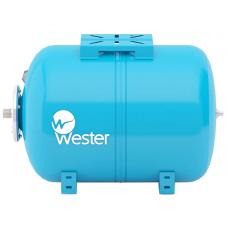 """Гидроаккумулятор горизонтальный WESTER WAО 100 (10 бар) H52хL73 G1"""" (на ножках)"""