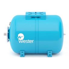 """Гидроаккумулятор горизонтальный WESTER WAО 80 (10 бар) H43хL71 G1"""" (на ножках)"""
