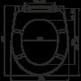 Сиденье д/унитаза ALCAPLAST дюропласт микролифт арт А604