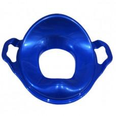 Сиденье для унитаза детского (вкладыш) с ручками пластик (голубое)