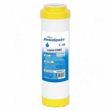 Картридж С 10 с ионообм гранулами смягч воду (смола) Аквабрайт