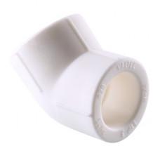 Колено VALTEC PPR d=25х45* белое VTp.759.0.025