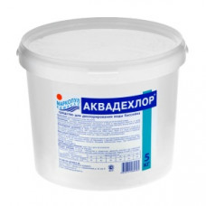 Средство для бассейна АКВАДЕХЛОР (дехлорирование воды) порошок 5кг* Маркопул