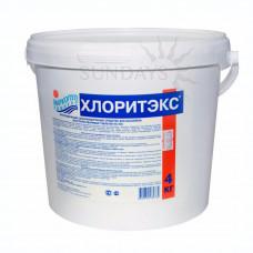 Средство для бассейна ХЛОРИТЕКС гранулы (*шок*-хлор) *4кг* Маркопул