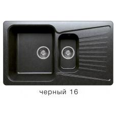 Мойка из искусств камня POLYGRAN F18 16 черная 850х500мм с сифоном