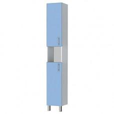 Пенал Тритон ЭКО-30 напольный 2 двери белый/голубой ш299 х гл300 х в1972