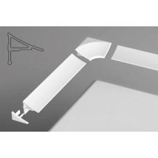 Набор для планки декоративной RAVAK 11мм (2 заглушки и 2 угловых соединителя) арт B460000001