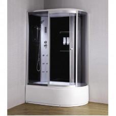 Гидробокс LORANTA CS-007-1L 135х85х220 гл/поддон п/к левый белый/проф серое стекло