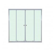Шторка для ванны ТРИТОН 150х140 2 двери рифленое стекло