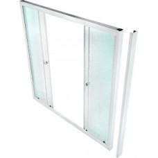 Шторка для ванны ТРИТОН 170х140 2 двери рифленое стекло