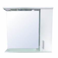 Зеркало-шкаф LORANTA Модерн 80 с подсветкой правое ш800 х гл180 х в800
