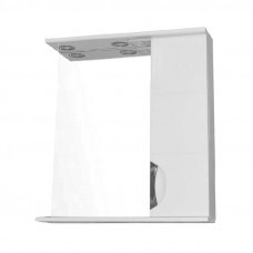 Зеркало LORANTA Стиль 70 с фрезеровкой и подсветкой правое ш700 х гл160 х в820