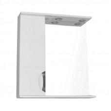 Зеркало LORANTA Стиль 70 с фрезеровкой и подсветкой левое ш700 х гл160 х в820