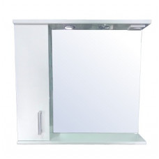 Зеркало-шкаф LORANTA Модерн 80 с подсветкой левое ш800 х гл180 х в800