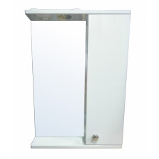 Зеркало-шкаф LORANTA Моника 50 с подсветкой правое ш500 х гл135 х в695