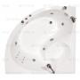 Акриловая ванна  гидромассажная ТРИТОН ЭРИКА 1400*1400 с фронтальной панелью