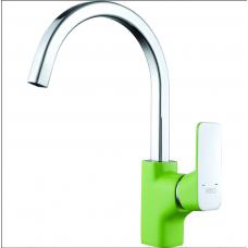 Смеситель для кухни D&K зеленый+хром арт DA1432412