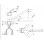 Смеситель для кухни D&K монобукса арт DA1192301