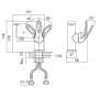 Смеситель для умывальника D&K монобукса боковая ручка арт DA1372101