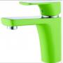 Смеситель для умывальника D&K монобукса зеленый+хром арт DA1432112