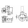 Смеситель для биде BRAVAT ELER  хром арт D9137CP-RUS