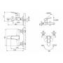 Смеситель для ванны BRAVAT ELER  (без душевого комплекта) монобукса хром арт F6191238CP-01-RUS